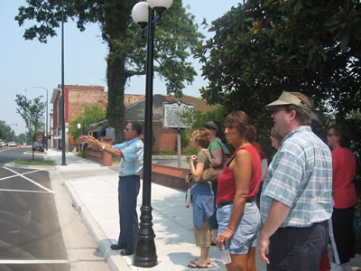 Local Bennettsville Historian Bill Kinney Shows the Pee Dee Teachers the Sites of the Town