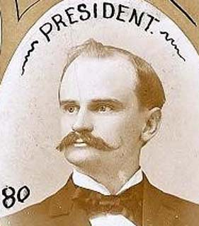 John Gary Evans, as President of 1895 Constitutional Convention.