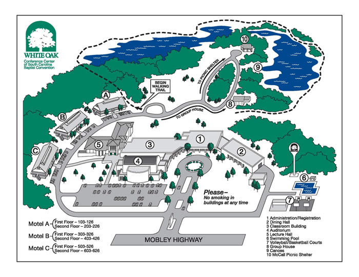 Map of White Oak Conference Center