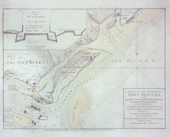 1776 Map of Fort Sullivan