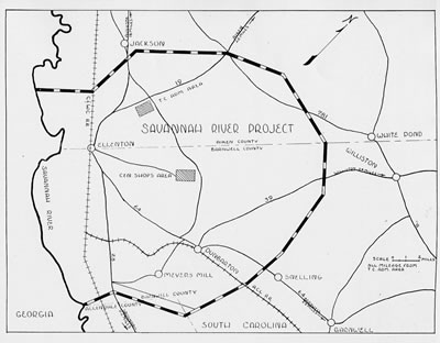 Report By The US Atomic Energy Commission On Facts And Figures - Savannah river us map
